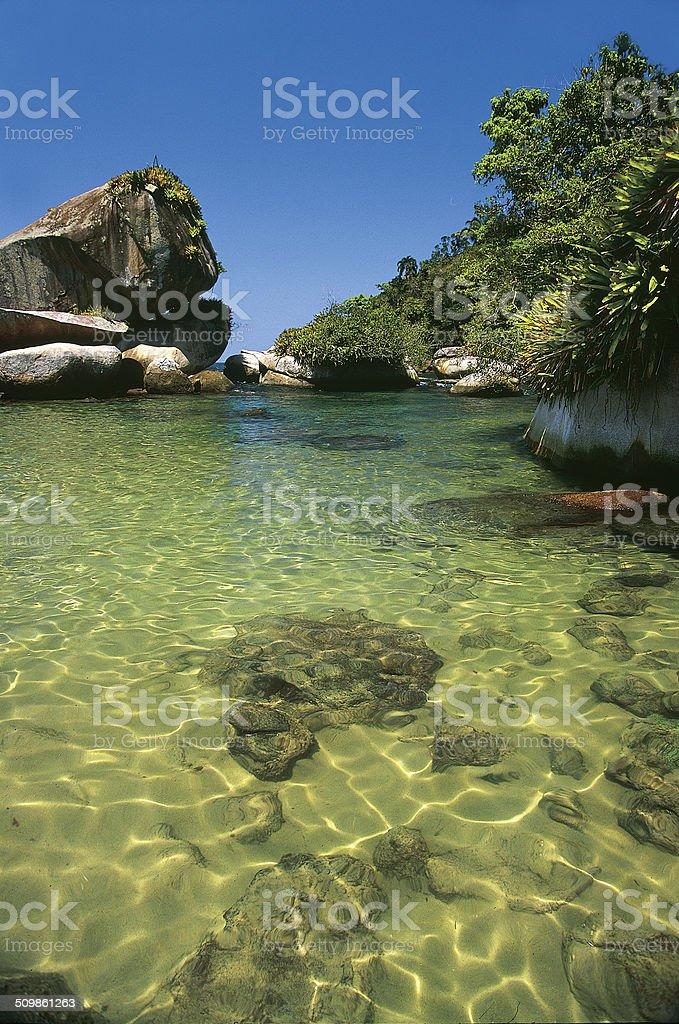 Piscina do Cachadaço, Trindade,Paraty, Baía de Angra stock photo
