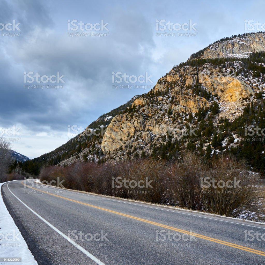 Cache la Poudre Canyon stock photo