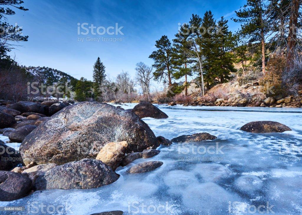 Cache la Poudre River stock photo
