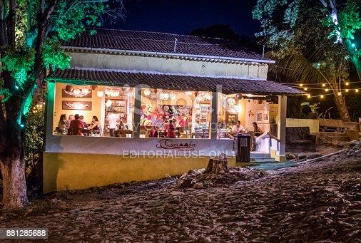 istock Cacimba Restaurant at night - Fernando de Noronha, Pernambuco, Brazil 881285688
