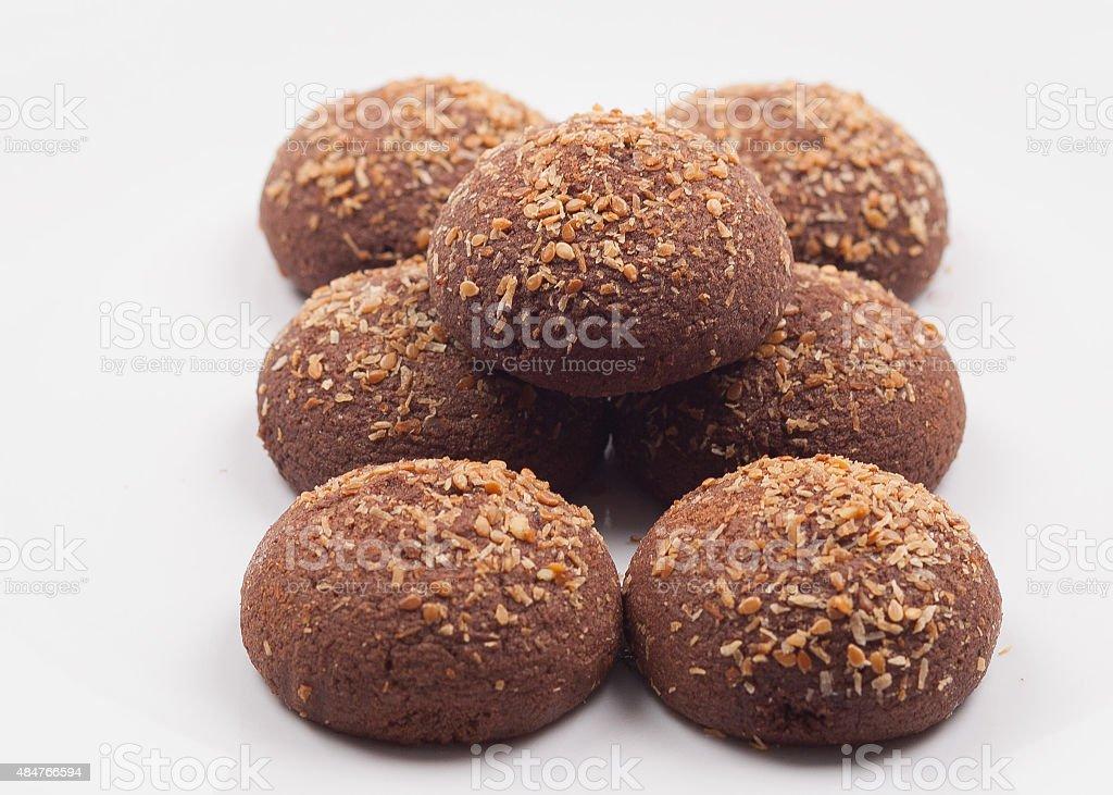 cacoa cookies stock photo