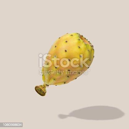 Cactus fruit balloon on bright background. Creative minimal concept.
