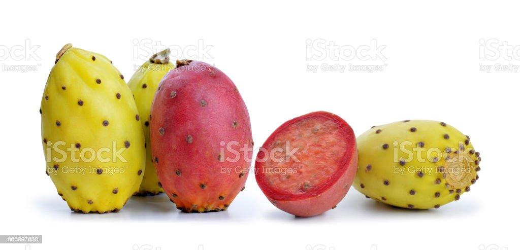 Cactus fruit or Opuntia. stock photo