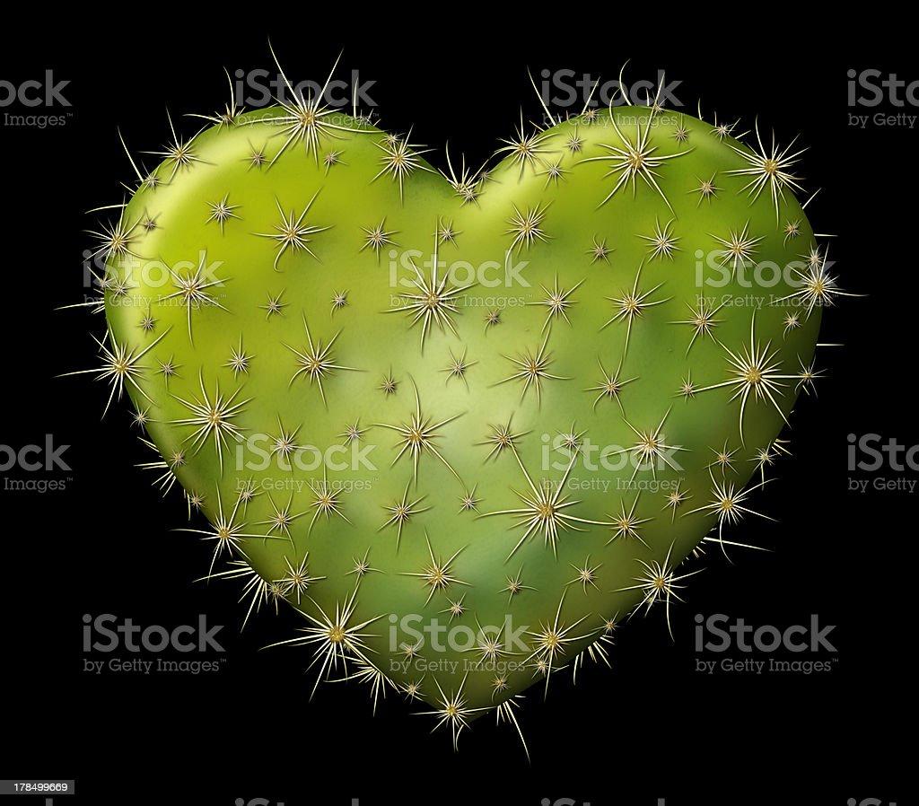 Cactus Heart royalty-free stock photo