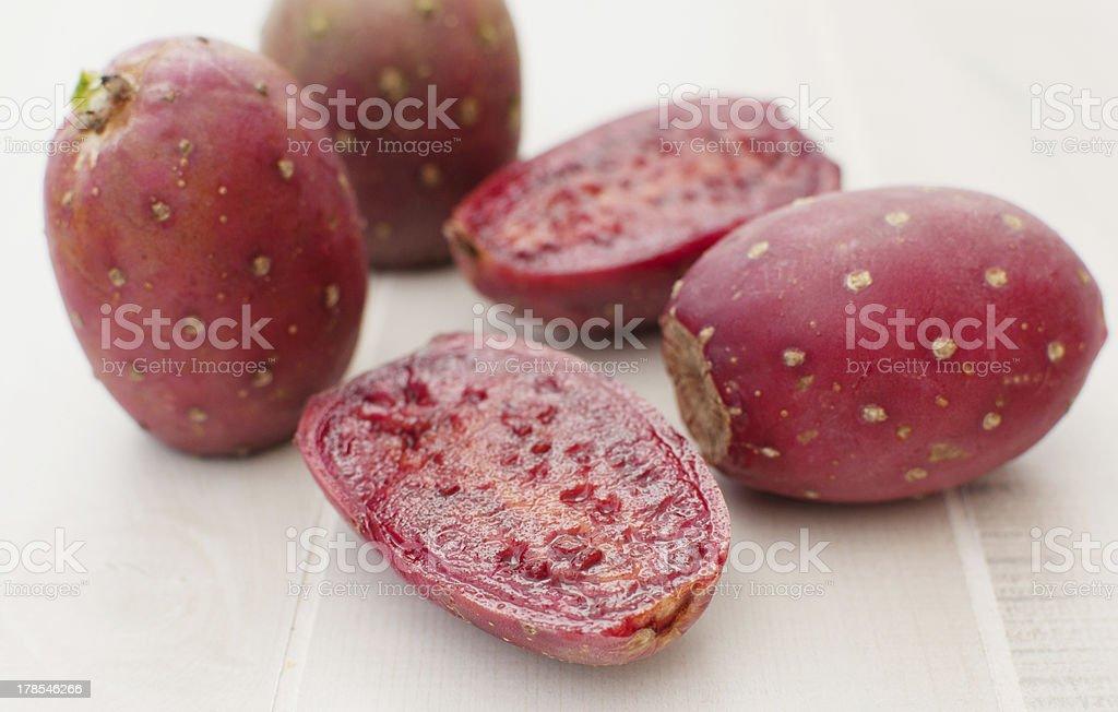 Cactus pears fruit cut royalty-free stock photo