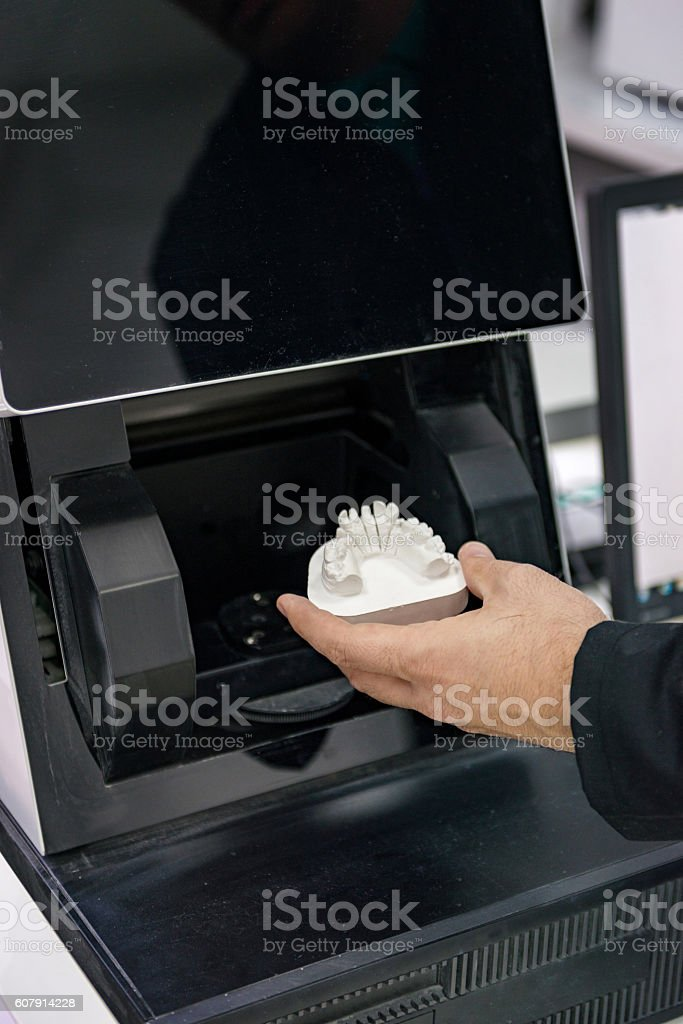 Cad cam scanner stock photo