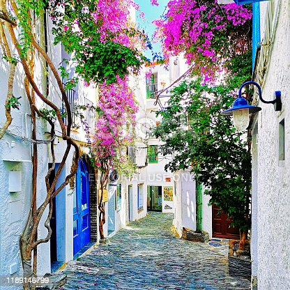 Scenic old town of Cadaques, Catalonia, Spain near  Barcelona.
