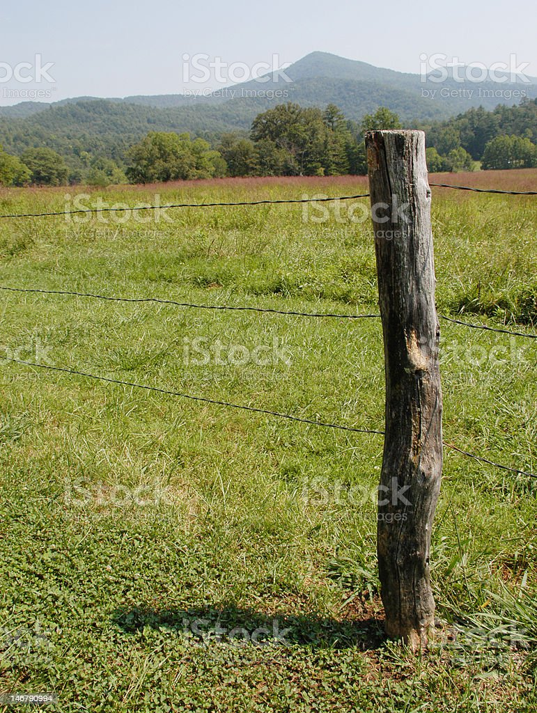 Cades Cove boundary royalty-free stock photo
