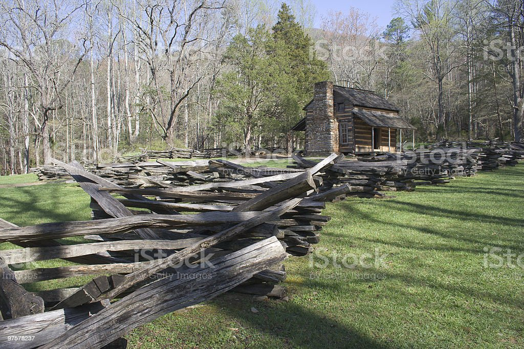 Cades Cove Cabin royalty-free stock photo