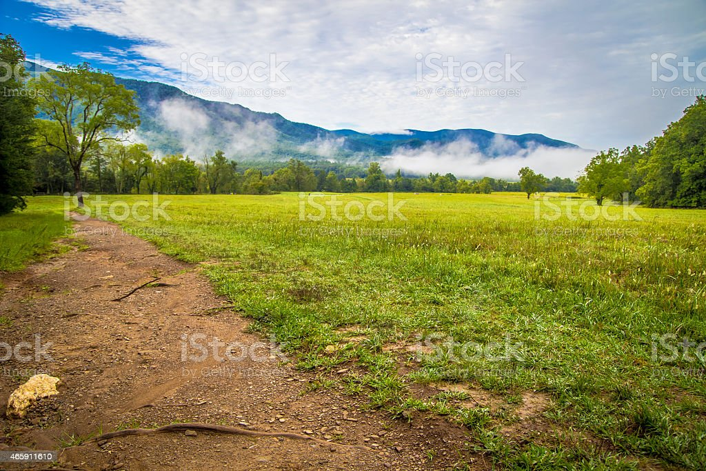 Cades Cove Valley stock photo