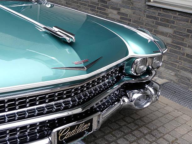 Cadillac chrome bumper stock photo