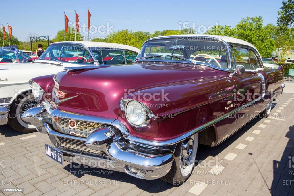 1956 Cadillac Coupe De Ville classic car stock photo