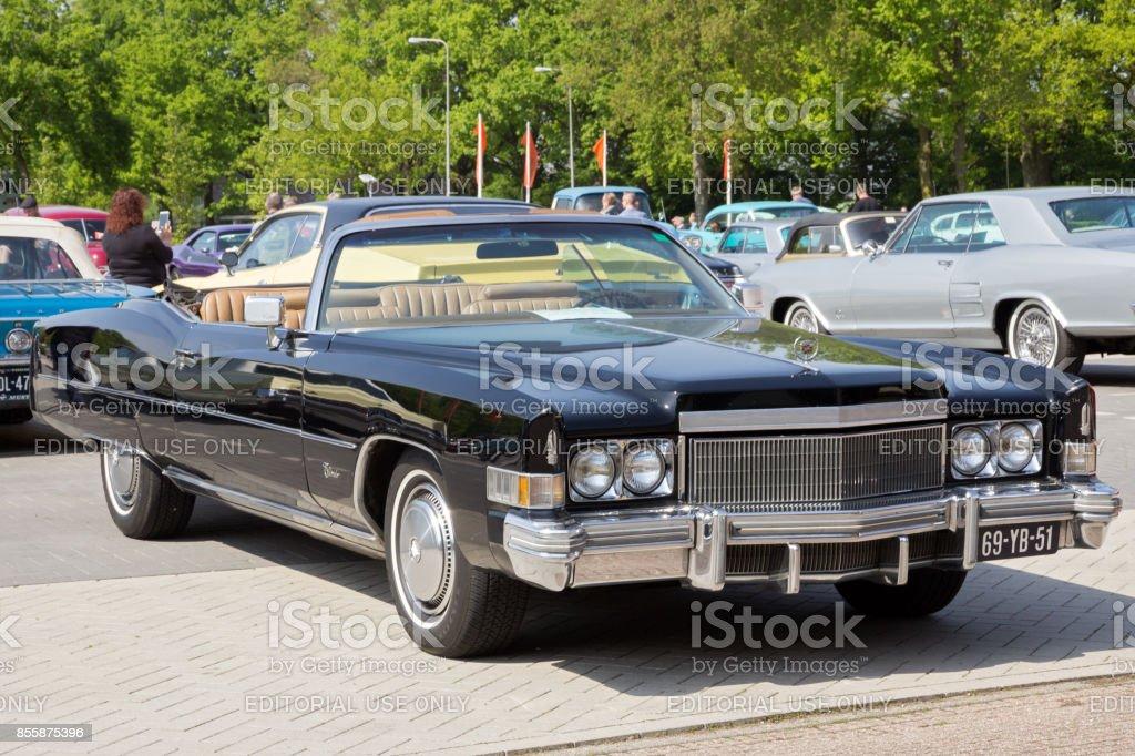 1974 Cadillac Eeldorado Convertible classic car stock photo