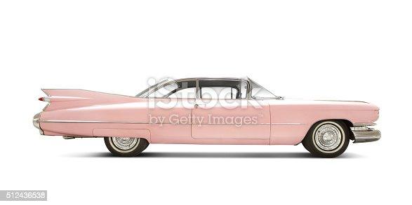 '59 Cadillac Eldorado isolated on white. Logos removed.