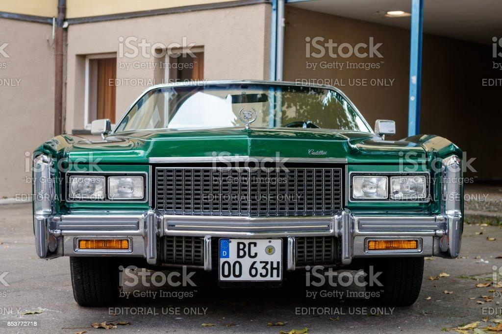 Cadillac Eldorado oldtimer car at the US Car Meeting event on...