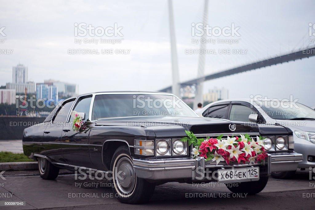 Vladivostok, Russia - August 17, 2013: Cadillac Fleetwood 1974 stock photo