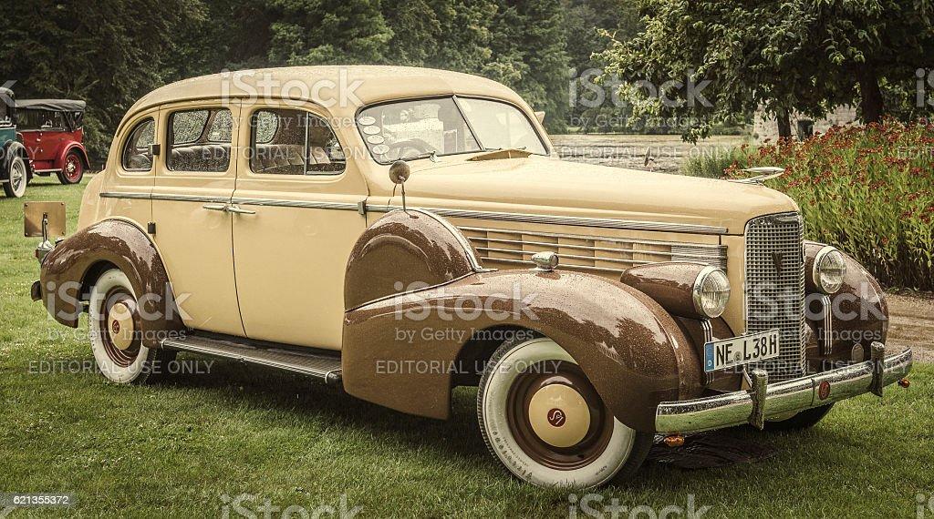 Cadillac LaSalle V8 Sedan 1938 classic American luxury car stock photo
