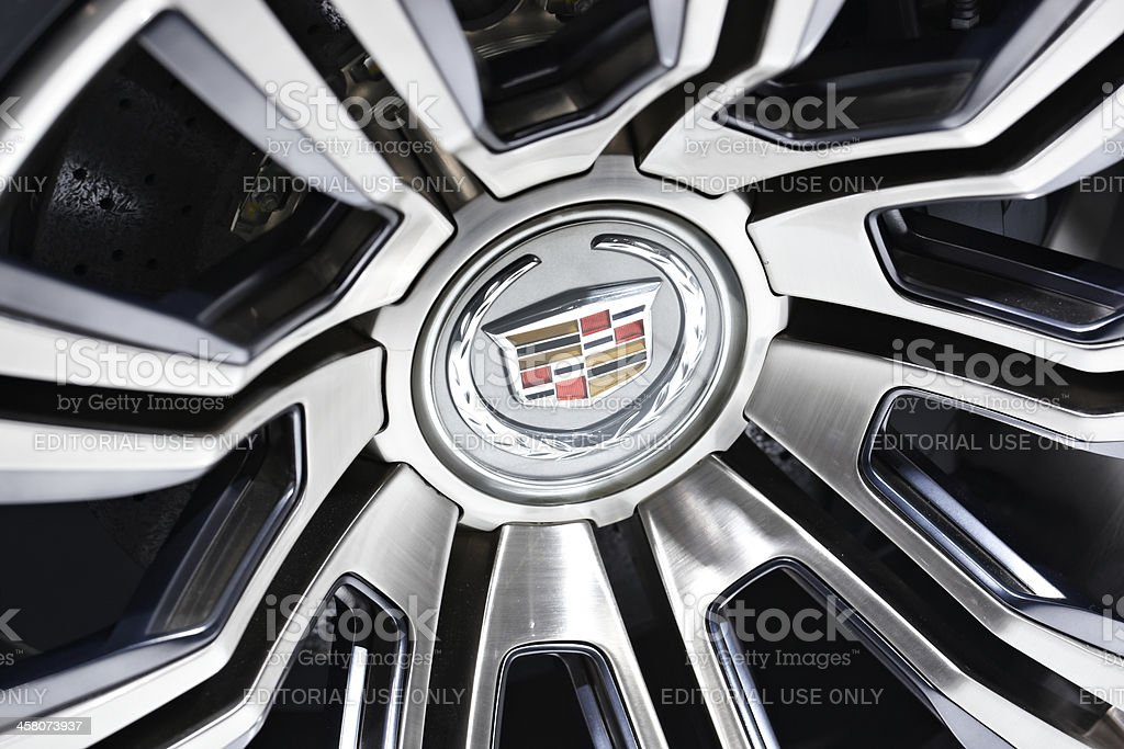 Cadillac logo stock photo