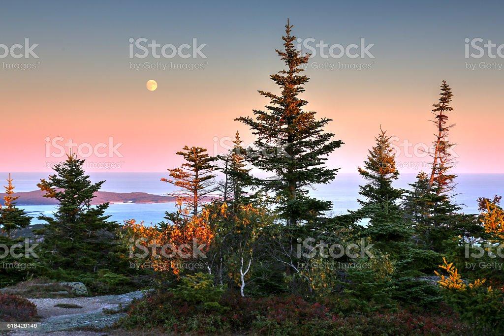 Cadillac Mountain, ME stock photo