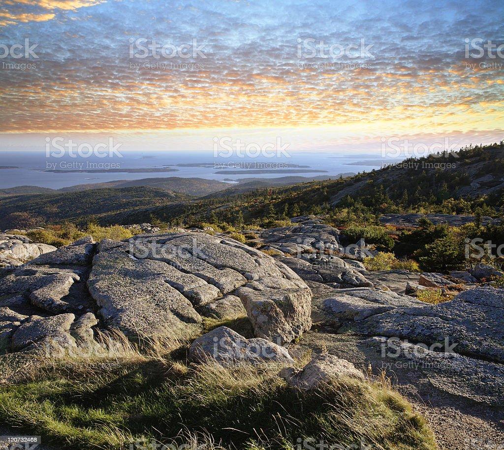 Cadillac Mountain View royalty-free stock photo
