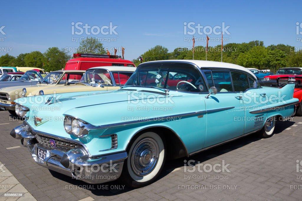 1958 Cadillac Sedan De Ville car stock photo