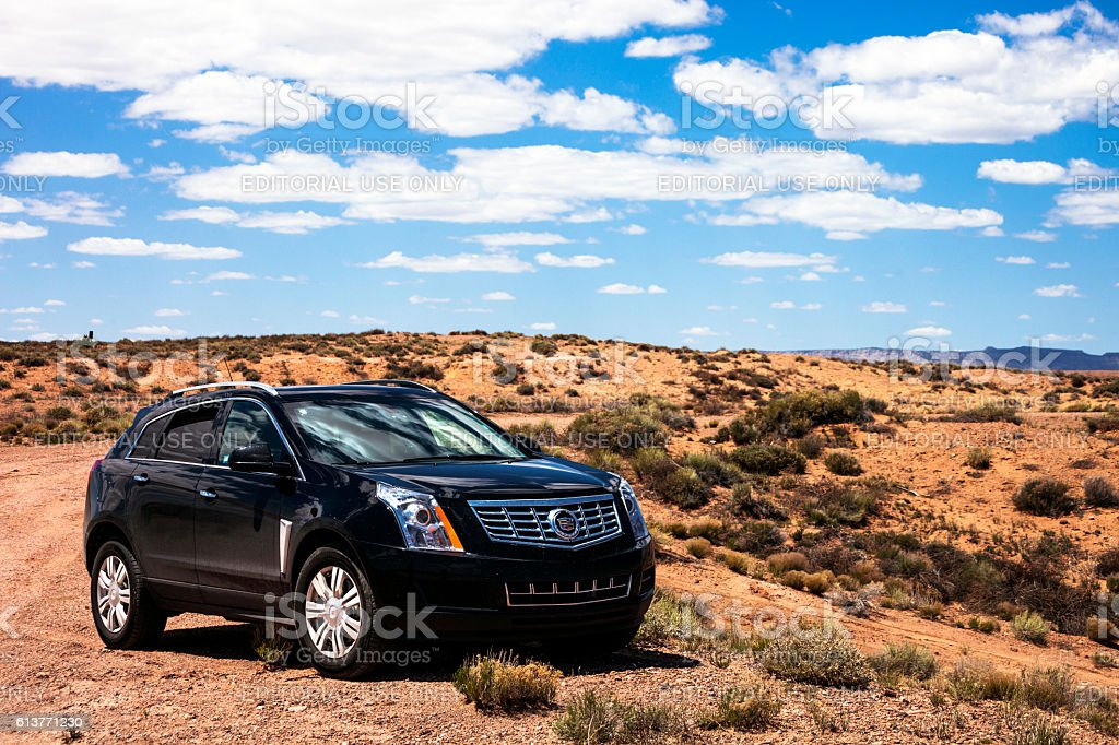 Cadillac SRX. stock photo