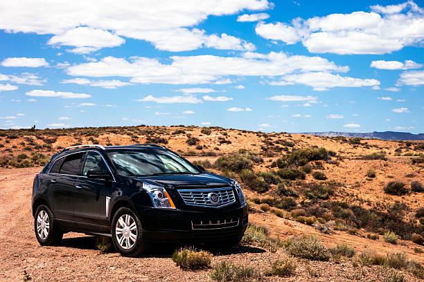 Cadillac SRX. stock photo
