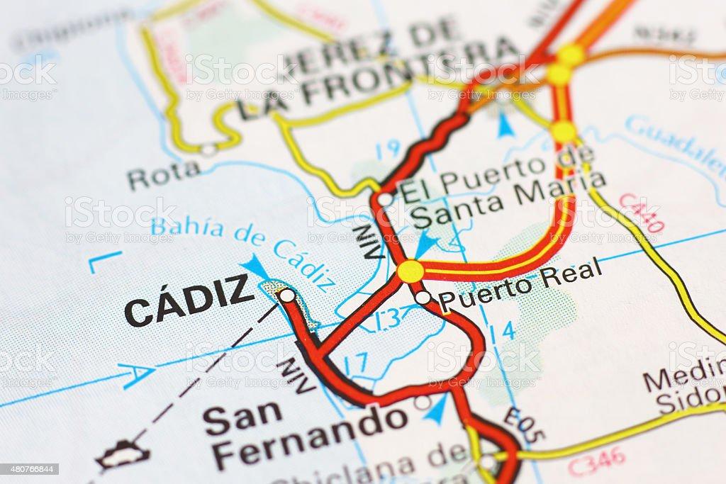 Karte Andalusien Cadiz.Cadiz Bereich Auf Einer Karte Anzeigen Stockfoto Und Mehr Bilder Von 2015