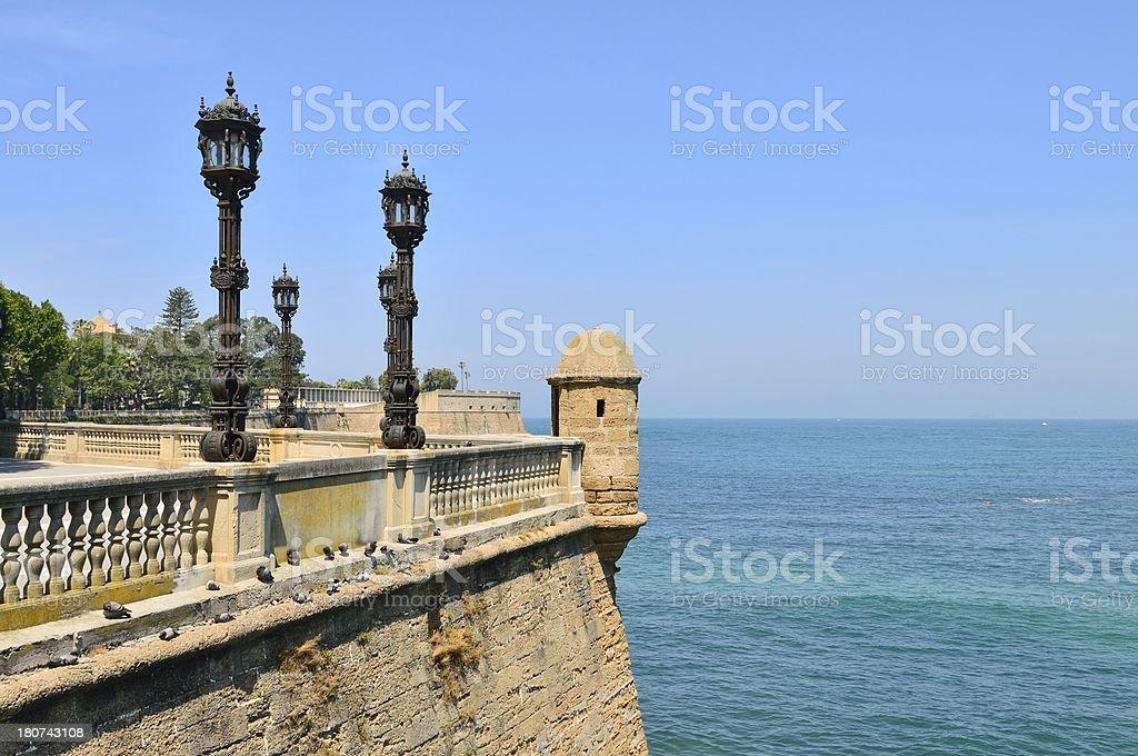 Cadiz Bastion of Calendaria Alameda Turret royalty-free stock photo