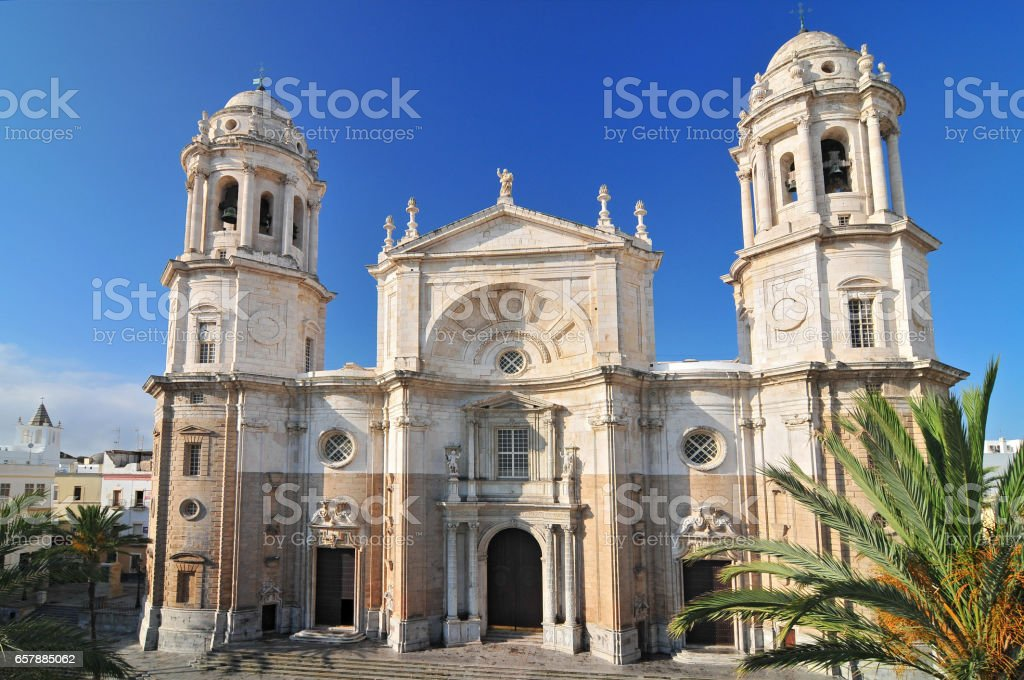 Cadiz Cathedral in Cadiz. Andalusia, Spain stock photo