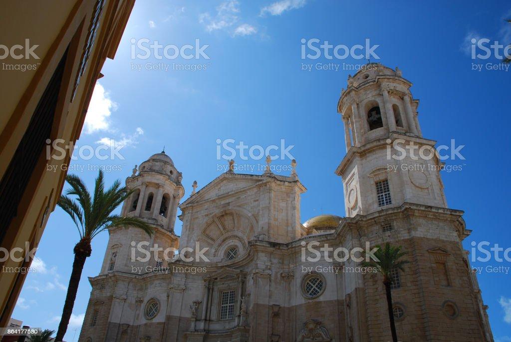 'Cadiz Cathedral'  is a Roman Catholic church in Cádiz, Spain royalty-free stock photo