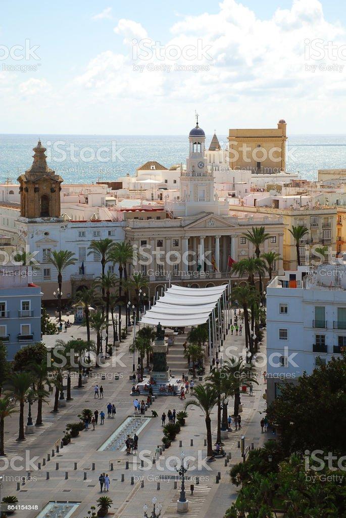 Cadiz, Spain: Plaza de San Juan de Dios, town hall royalty-free stock photo
