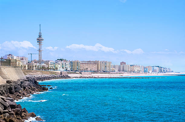 Cadiz with its Atlantic shore​​​ foto