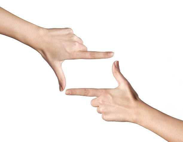cadrage gesture stock photo