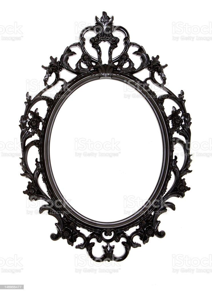 cadre noir ovale royalty-free stock photo