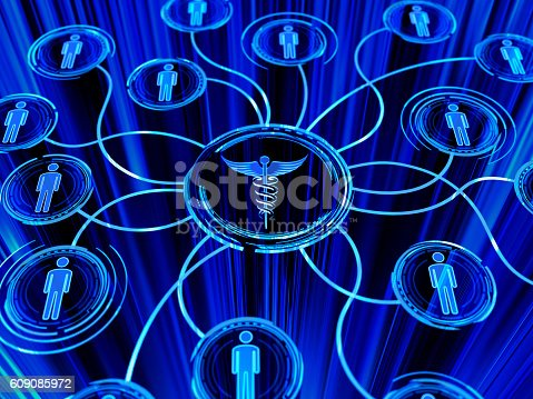 istock caduceus and people network 609085972