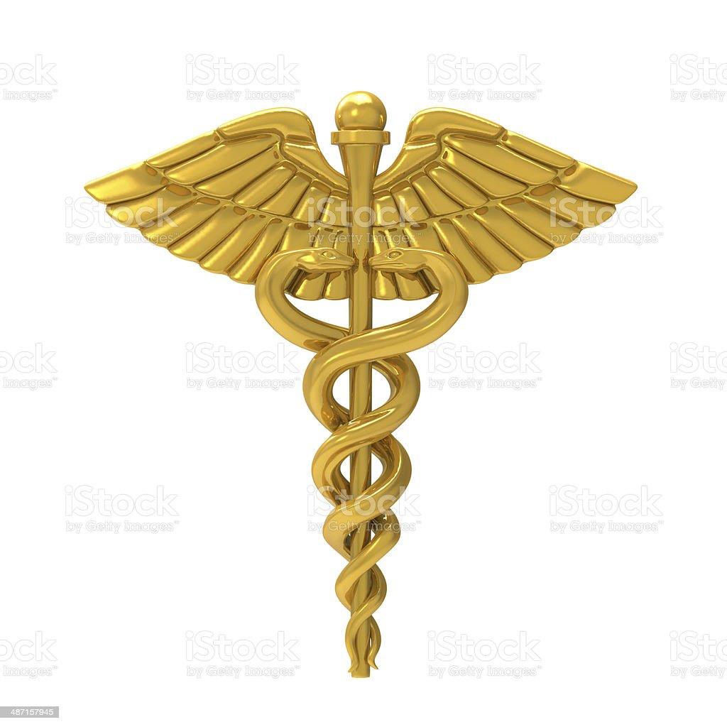 Caduceus Medical Symbol stock photo