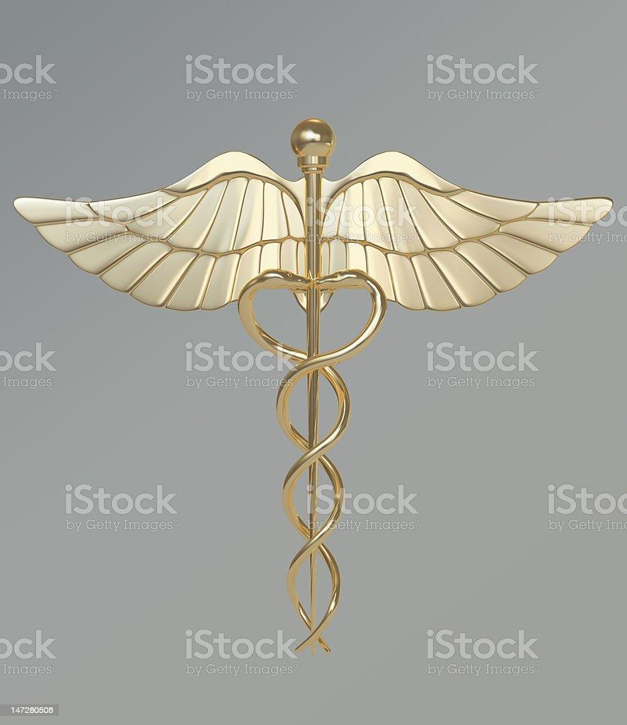 Caduceus-medical symbol stock photo