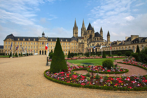 caen, medieval abbey - caen stock pictures, royalty-free photos & images