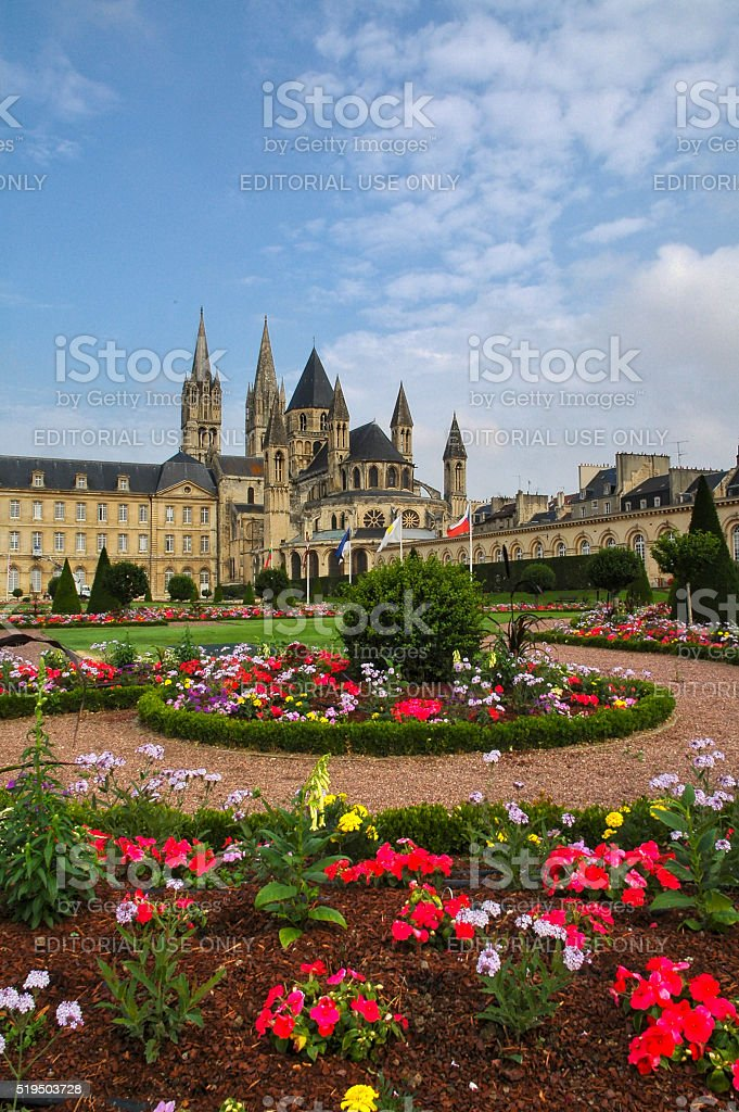 Caen, medieval abbey stock photo