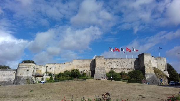 festung caen normandy - caen stock pictures, royalty-free photos & images