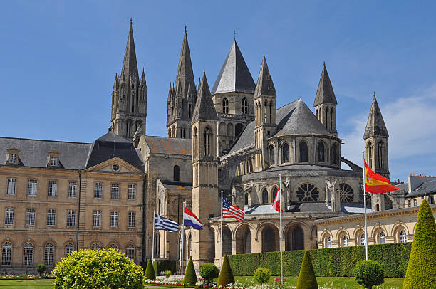 caen town hall - caen stock pictures, royalty-free photos & images