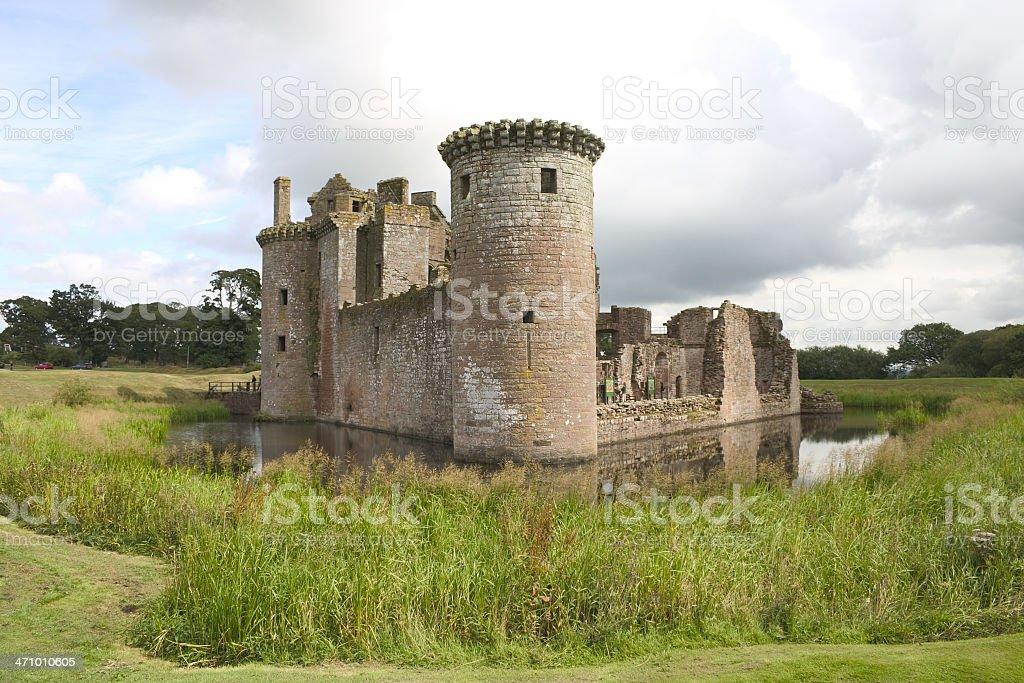 Caerlaverock Castle 2 stock photo