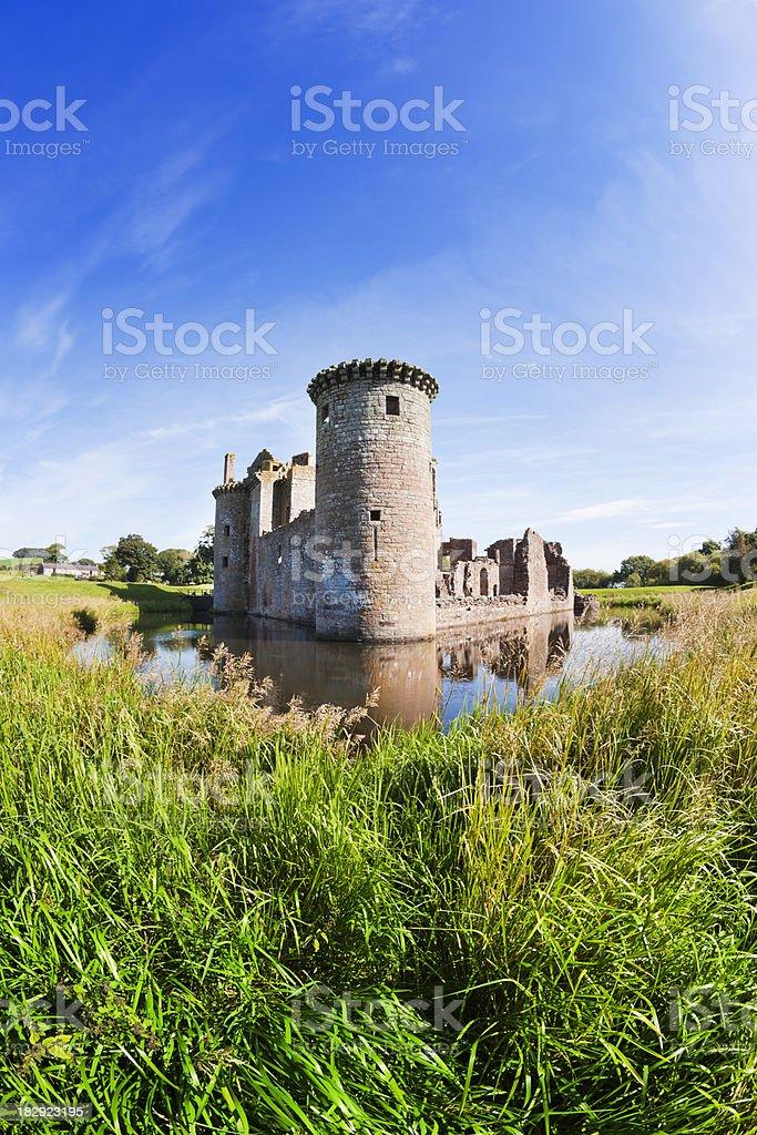 Caerlaverock Castle, Dumfries royalty-free stock photo