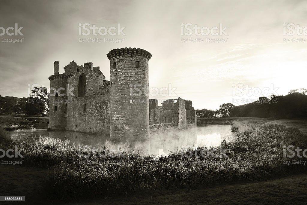 Caerlaverock Castle, Dumfries stock photo