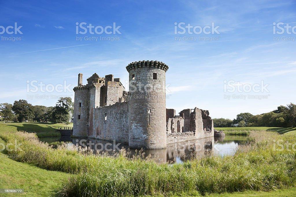 Caerlaverock Castle stock photo