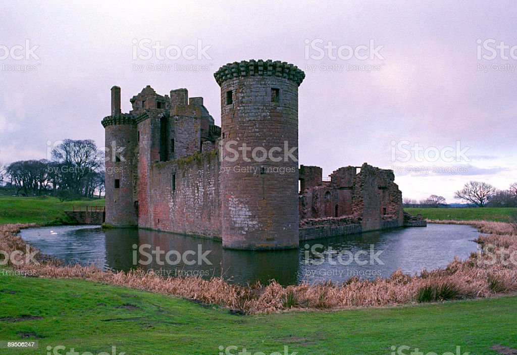 Caerlaverock Castle royalty-free stock photo