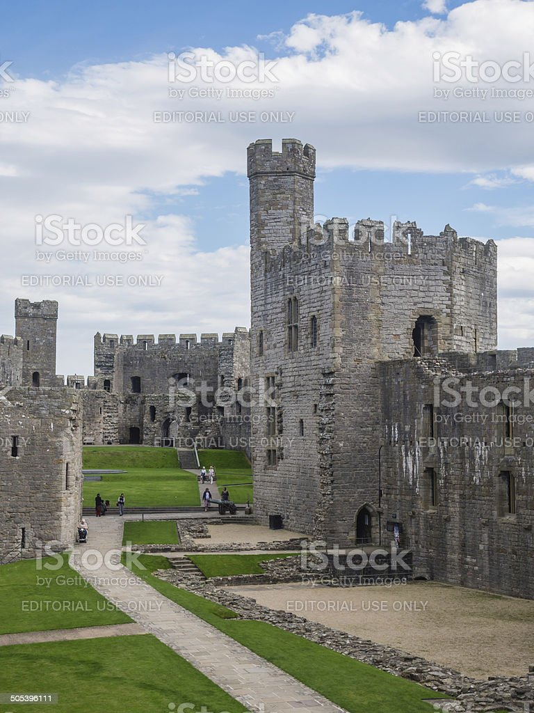 Caernarfon Castle, North Wales stock photo