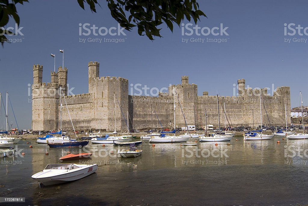 Caernarfon castle royalty-free stock photo