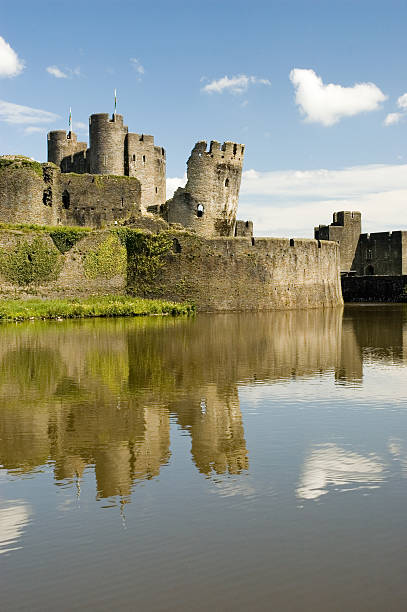 Caerphilly Castle stock photo